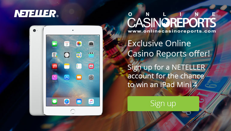 Vinn en iPad Mini 4 med NETELLER og Online Casino Reports
