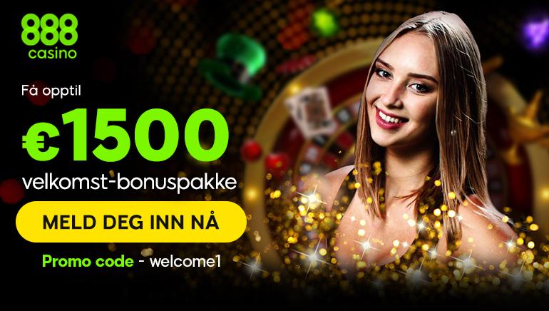 Fa apptil €1500 velkomst-bonuspakke