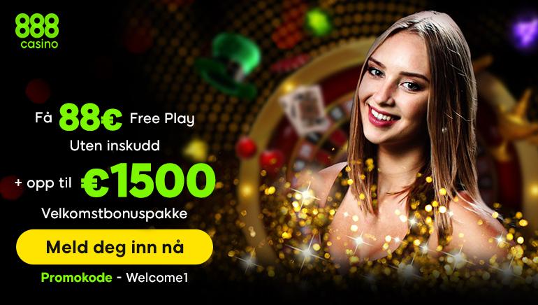 888 Casino velkomstbonus for norske spillere