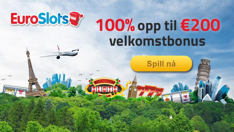 EuroSlots gir ut bonustilbud når vi lanserer nye spill