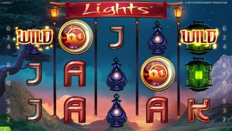 Vakker grafikk i spilleautomaten i Lights