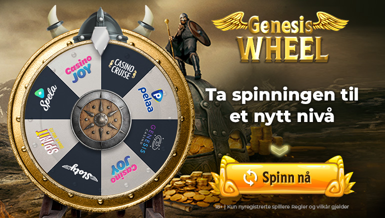 Spin the Wheel of Genesis for enorme velkomstbonuser
