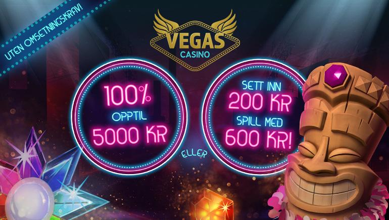 Motta en flott velkomstbonus hos VegasCasino som er tilgjengelig for alle norske spillere
