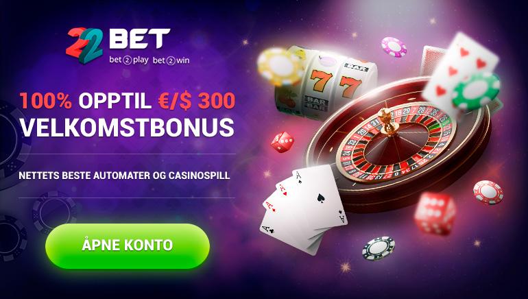 100% opptil 300 € / $ velkomstbonus - beste spilleautomater og kasinospill