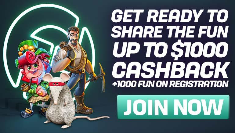 Sjenerøse casnback-tilbud og FUN venter deg på CasinoFair