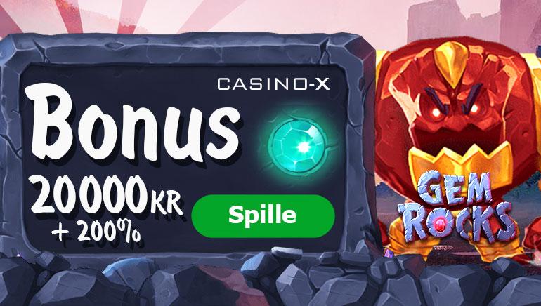 Casino-X med velkomstbonus på 20000kr + 200 free spins