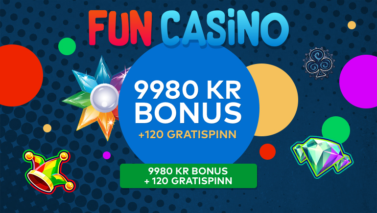 Fun casino ønsker spillerne velkommen med en heftig velkomstbonus