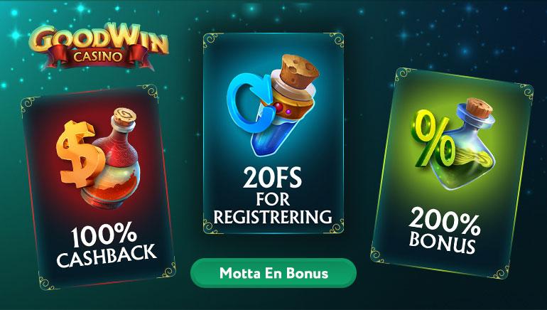 200% velkomstbonus og mer som kan benyttes hos GoodWin Casino