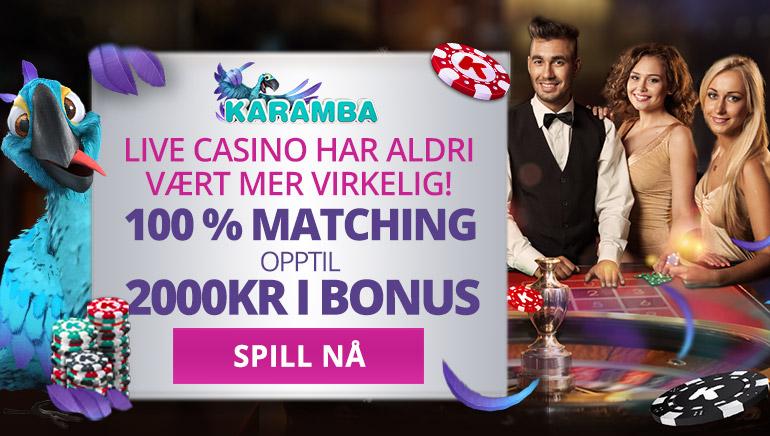 Opplev Live Casino bord med denne spesielle Karamba Casino Bonusen