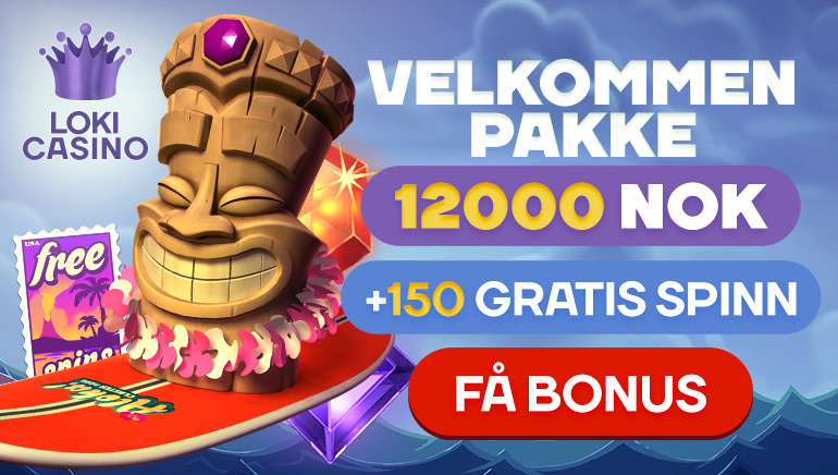 Grip dine 150 gratisspinn og en heftig velkomstbonus hos Loki Casino