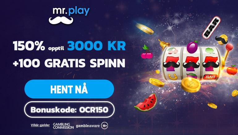Krev et spennende eksklusivt tilbud hos mr.play Casino