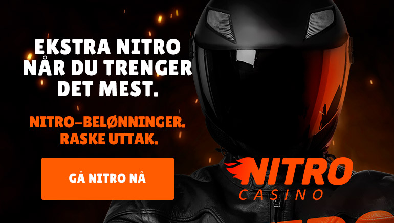 NitroCasino er en leder med Nitro-belønninger og raske uttak