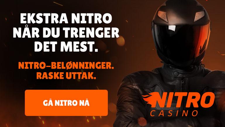 Sjekk Nitro Casinos lynkjappe transaksjoner og daglige belønninger