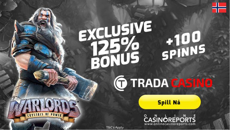 Få mer med Trada Casino sitt heftige velkomst tilbud