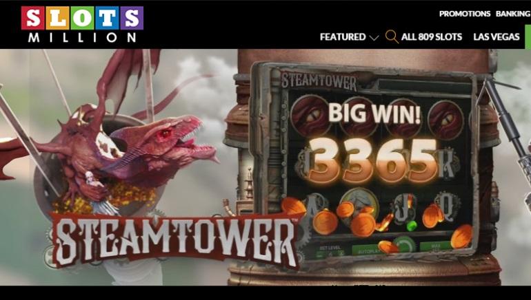 Slots Millon casino åpner dørene med over 800 spilleautomater