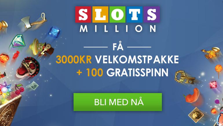 Begynn stort med SlotsMillion Casino sin velkomstbonus