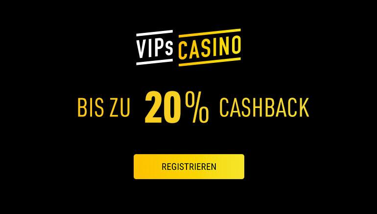 Opptil 20% ukentlig cashback tilgjengelig på VIPs Casino