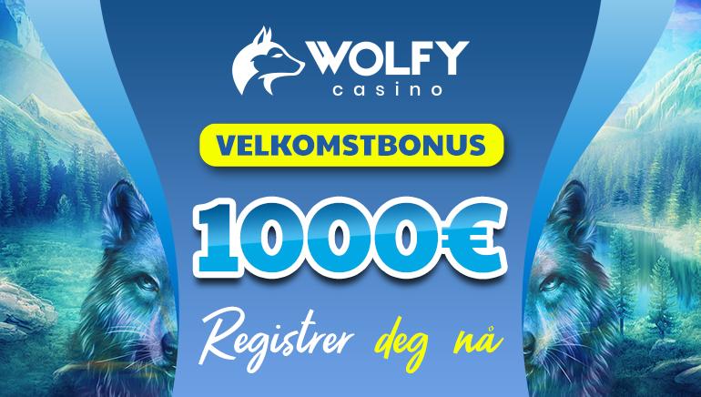 Wolfy Casino - €1000 VELKOMSTBONUS, registrer deg nå